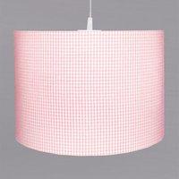 Pretty pink Vichy check hanging light