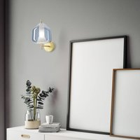 X Ray wall light  large lampshade   17 cm sky blue