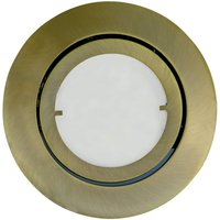 Joanie   LED recessed light in antique brass