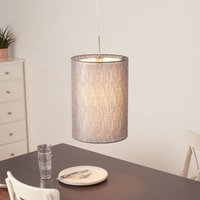 Gaas hanging light with fabric lampshade