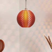 Flechtwerk hanging light  spherical  copper
