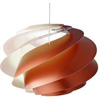 LE KLINT Swirl 1   hanging light  copper coloured
