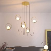 Halo LED hanging light  four bulb  decentralized
