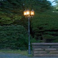 Milano post light  3 bulb