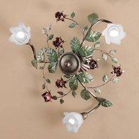 Rosaio ceiling light  round  three bulb