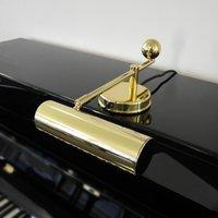 Brass piano lamp in De Stijl style
