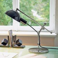 Lampada da scrivania del 1927 con snodi cromati