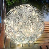 Warm white LED solar light Alu Wireball
