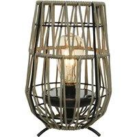 897598 LED solar table lamp sand  amber bulb