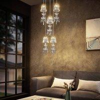 Lucande Yasanie LED pendant light, 5-bulb, round
