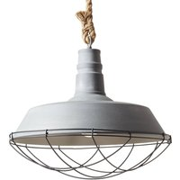 Rope hanging light in an industrial style