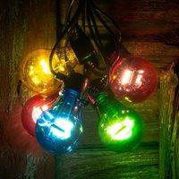 LED string lights filament multicoloured 5 bulb