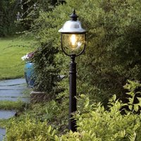 Parma path light with a stainless steel roof