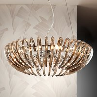 Crystal hanging light Ariadna in champagne colour