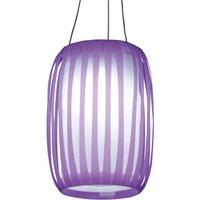 En forma de farol, lámpara solar LED Lilja púrpura