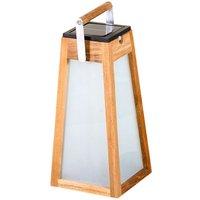 Tecka LED solar lantern  sensor  teak  38 8 cm