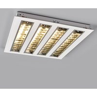 LED louvre troffer light with four louvres  4000 K