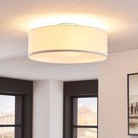 White fabric ceiling light Sebatin