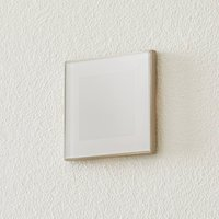 BEGA Accenta wall lamp angular ring steel 160 lm