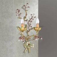 Viticcio florally embellished wall light