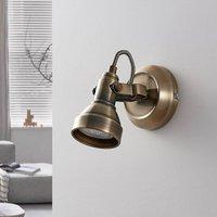 Perseas LED wall spotlight  antique brass