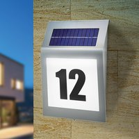 Style   solar design house number light