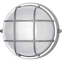 400180 wall light round with grid element  silver