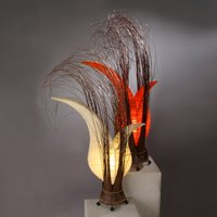 Bunga table lamp with a floral form  orange