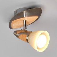 Spot Marena met houtapplicaties, E14 R50 LED