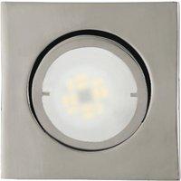 Square LED recessed light Joanie  chrome