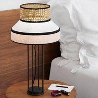MARKET SET Singapore table lamp  magenta white