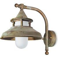 Outdoor wall light Antique  30 cm  antique brass