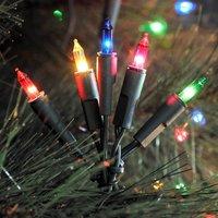 Colourful LED string lights  35 bulb 6 6 m