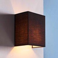 Black fabric wall lamp Annalisa  rectangular shape