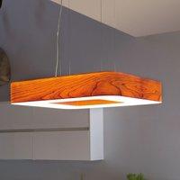 LZF Cuad LED hanging light 0 10 V dim  cherry wood