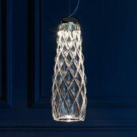 Handmade LED pendant light Pinecone  clear