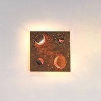 Knikerboker Buchi wall light 32x32cm copper leaf