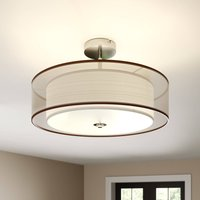 Pikka LED ceiling light with a brown lampshade