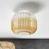 Forestier Bamboo Light XS ceiling lamp 27 cm white