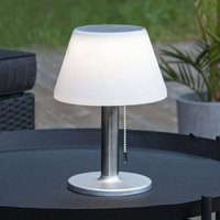 Solia LED solar table lamp with pull switch