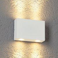 4-flammige LED-Außenwandleuchte Henor in Weiß