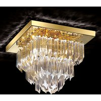 Square ceiling light Archimede  gold plated