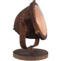 Woody table lamp  rusty brown