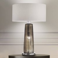 Special glass table lamp Perle  fabric lampshade