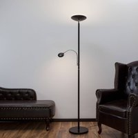 LED uplighter Malea with reading arm  black