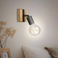 Wood Basic wall light  1 bulb
