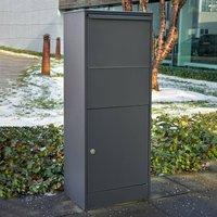 Allux 800S L free standing letterbox in black