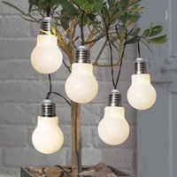 Glow LED string lights  battery  white
