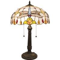 5945 table lamp  Tiffany look with dragonflies