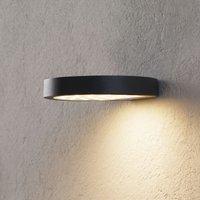 LED-Solar-Außenwandlampe Linja, dunkelgrau